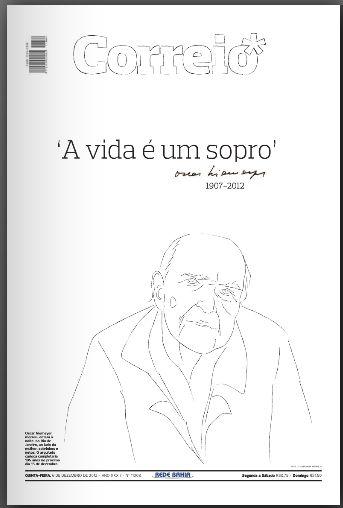 Jornais homenageiam Niemeyer com belas capas