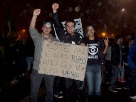 Manifestação em Cascavel