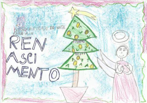 Renascimento, a mensagem do cartão de Natal da Coluna