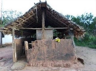 Escola de taipa no município de Governador Niwton Bello. Foto: Divulgação