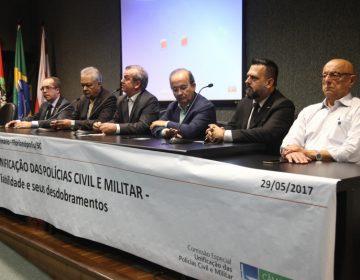 Comissão que debate unificação das polícias vai apresentar parecer
