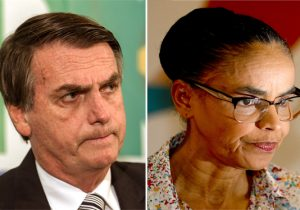 Sem Lula, Bolsonaro e Marina Silva lideram intenções de voto