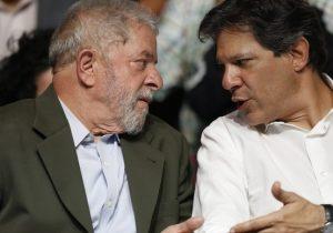 Lula orienta Haddad a elevar ataques a Bolsonaro