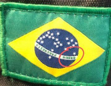 """Novos uniformes da ANTT têm Bandeira com """"Orden"""" e erro de costura"""
